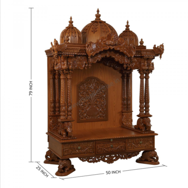 Wooden Temple Mandir for Home