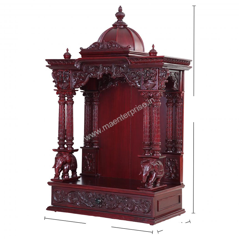 Wooden Temple Design For Home_3