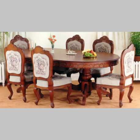Wooden Dinning Table with Carving