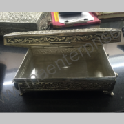 An antique solid silver Brass box_1