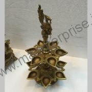 Peacock Diya Hindu religious gift of brass_1