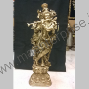 Krishna Statue in Brass Decor