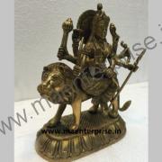 BR-14_2Hindu Goddess Ambe mataji murti of Brass_2