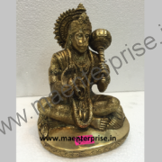 Hindu god murti of Hanumanji of brass_1