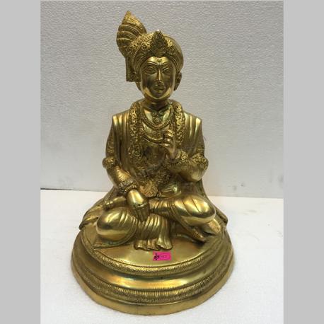 Brass Murti ofGhanshyamji Maharaj,