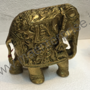 Brass elephant statue antique look for home decor_2