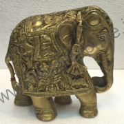 Brass elephant statue antique look for home decor_1