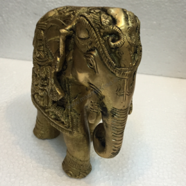 Antique Brass Elephant Statue for Home Decor