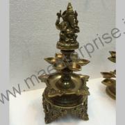 Ganesha Diya Hindu religious gift of brass_1