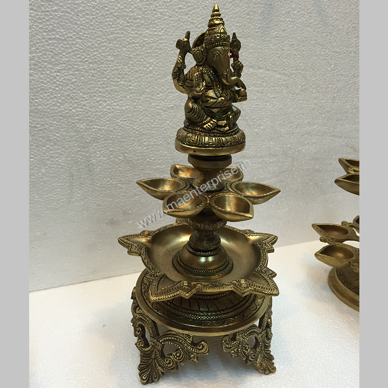 Ganesha Diya Hindu Religious Gift of Brass