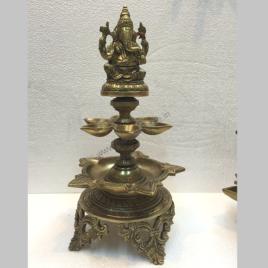 Ganesha Diya Hindu religious gift of brass_2