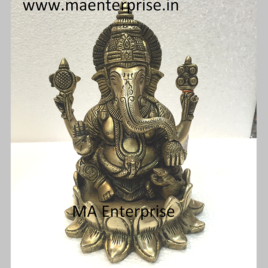 Metal Statue of Lord Ganesha for Gifts