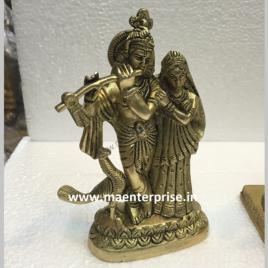Brass Murti of Radha Krishna