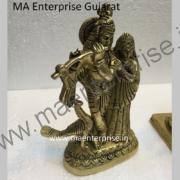 Radha Krishna Statue of Brass_1