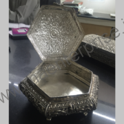 An antique solid silver Brass box_3
