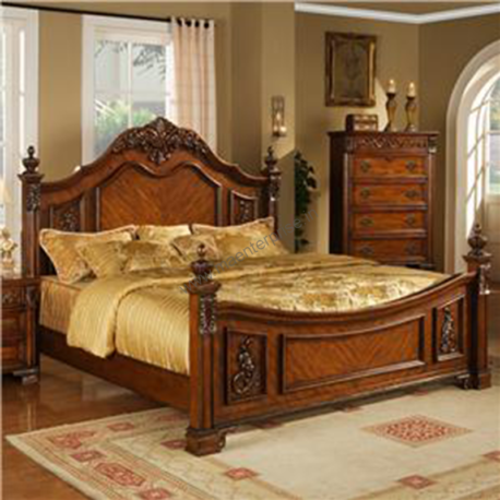 Wooden Bed Set for Sale