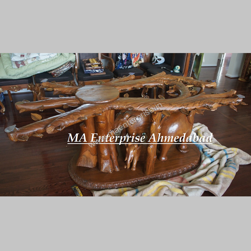 Indian Wooden Dining Table With Glass Top Designs