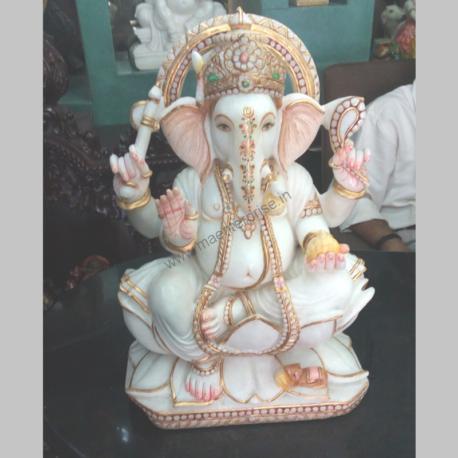 Idol Marble Murti for Lord Ganesha