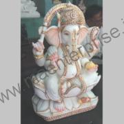 Hindu God Ganesha marble murti idol_2
