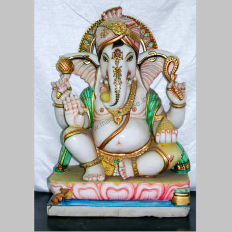 Marble Murti of God Ganesha