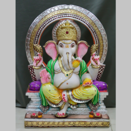 Marble statue of God Ganesha
