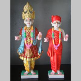 Marble Swaminarayan murti statue-1