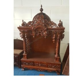 A Ready Wooden Pooja Mandir For Home : Ready Piece , Immediate Delivery