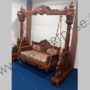Wooden carved swing jhula for USA home_3