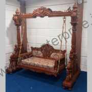 Wooden carved swing jhula for USA home_2