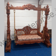 Wooden Carved Swing Jhula for USA