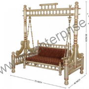 Indian Swing Sankheda Wooden Jhula