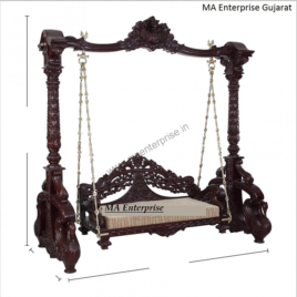 Antique design wooden swing jhula_2