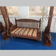 Wooden carved swing jhula for home_4
