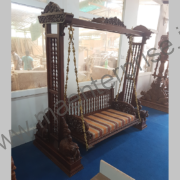 Wooden carved swing jhula for home_3