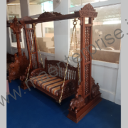 Wooden carved swing jhula for home_2