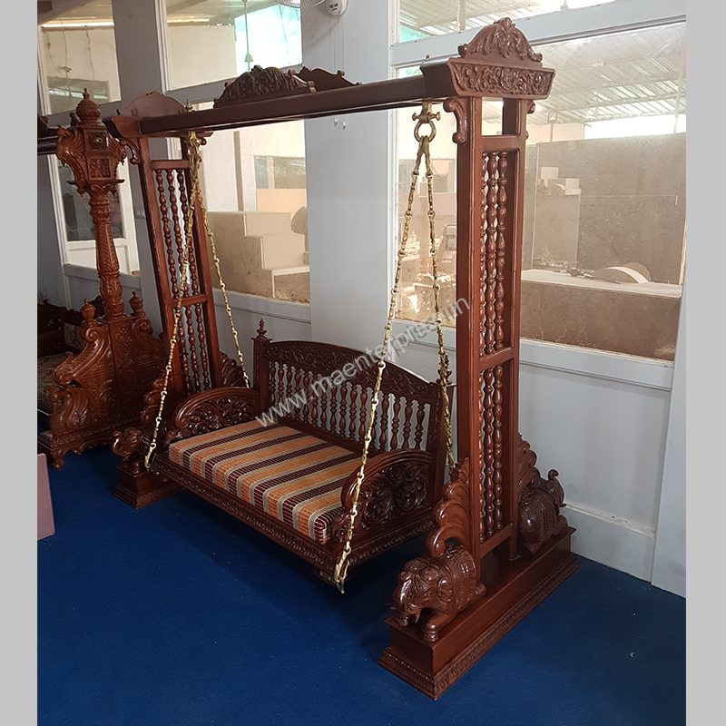 Wooden Carved Swing Jhula For Home M A Enterprise