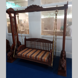 Wooden carved swing jhula for home_1