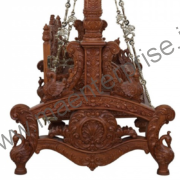 Indian wooden jhula swing for home_1