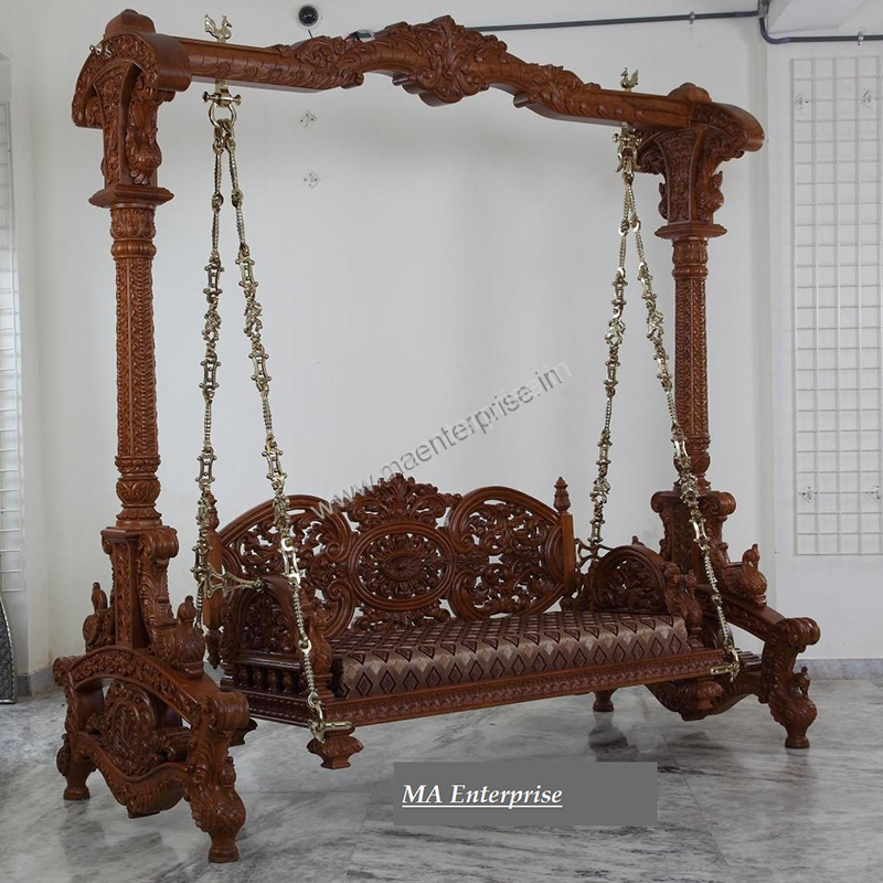 Indian Wooden Jhula Swing For Home