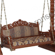 Peacock design wooden swing for USA home_2