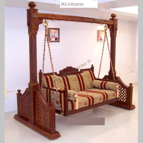 Indoor Teak Wood Swing for Home