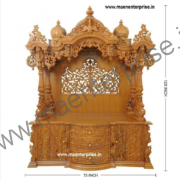 Big Wooden Temple for Pooja Mandir in USA