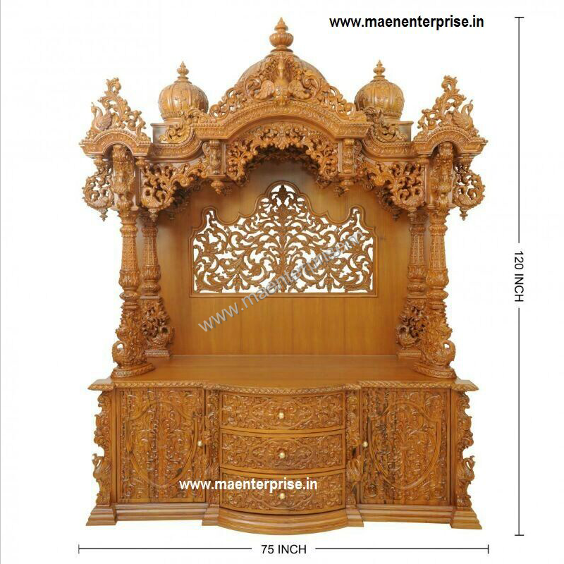 Big Wooden Mandir For Home Decoration