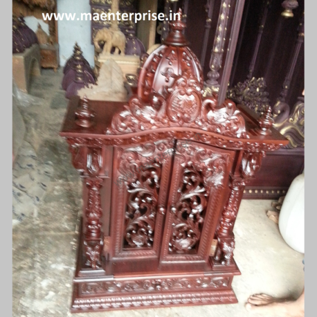 Door Design Small Wooden Temple for Home