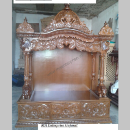Wooden Mandir for Pooja Room