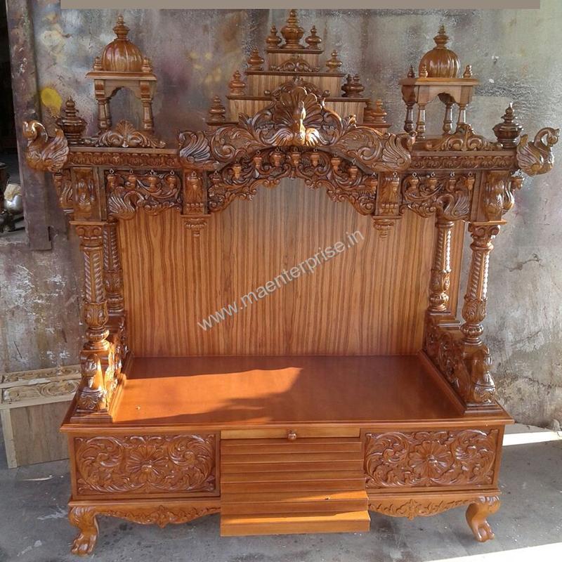 Wooden Mandir Temple For Usa