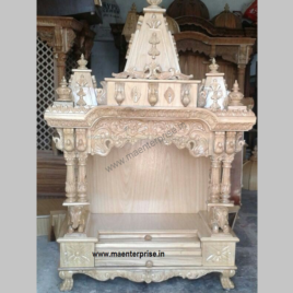 Hand Carved Wooden Mandir for USA