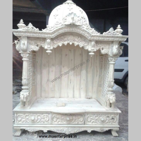 Hanging Indian Wooden Temple for Wall