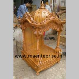 Round Dome Wooden Mandir