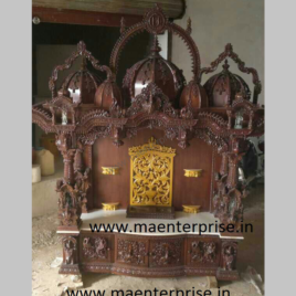 Carved Wooden Temple for Radha Krishna